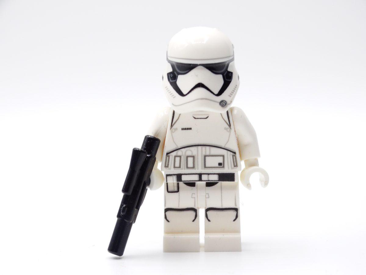 Vorderansicht der Stormtrooper-Minifigur.