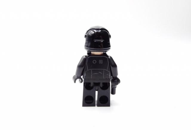 Rückansicht der TIE-Piloten-Minifigur.